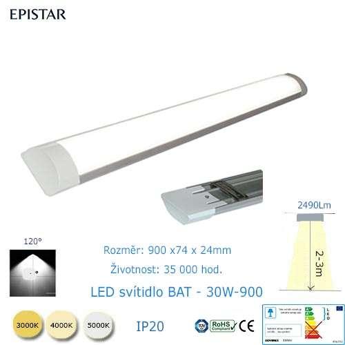 LED svietidlo  BAT-30W-900