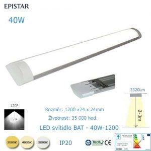 LED svietidlo BAT-40W-1200