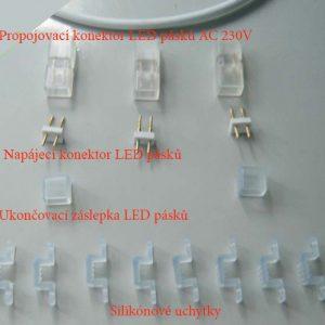 Záslepka LED pásku 230V AC